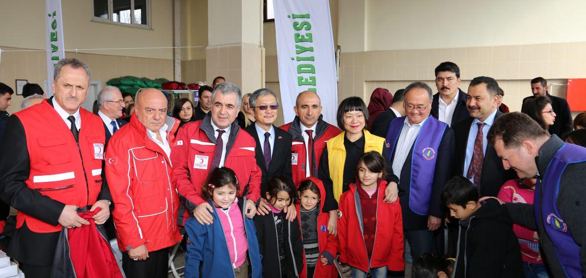 MHGF'nin organizasyonu ile Tayvanlıların yardımları Kilis'teki Suriyeli çocuklara ulaştı