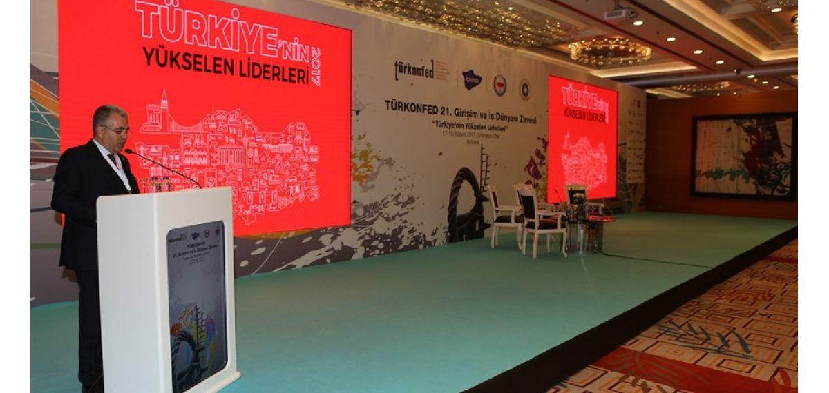 TÜRKONFED 21 Girişim ve İş Dünyası Zirve Bildirisi'ni MHGF Başkanı Hüseyin Öztürk okudu